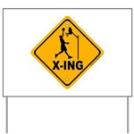 Basketball X-ing Yard Sign