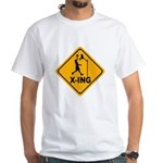 Basketball X-ing White T-Shirt