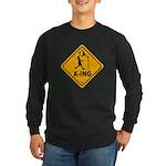 Basketball X-ing Long Sleeve Dark T-Shirt
