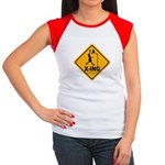 Basketball X-ing Women's Cap Sleeve T-Shirt