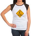 Basketball X-ing Women's Cap Sleeve T-Shirt