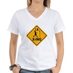 Basketball X-ing Women's V-Neck T-Shirt