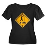Basketball X-ing Women's Plus Size Scoop Neck Dark
