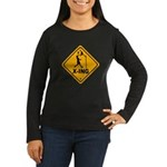 Basketball X-ing Women's Long Sleeve Dark T-Shirt