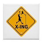 Basketball X-ing Tile Coaster