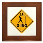 Basketball X-ing Framed Tile