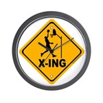 Basketball X-ing Wall Clock