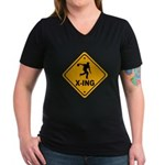 Bowl X-ing Women's V-Neck Dark T-Shirt