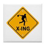 Bowl X-ing Tile Coaster