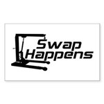 Swap Happens Rectangle Sticker 10 pk)