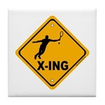Tennis X-ing Tile Coaster