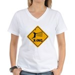Volleyball X-ing Women's V-Neck T-Shirt
