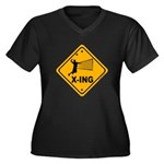 Volleyball X-ing Women's Plus Size V-Neck Dark T-S