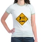 Volleyball X-ing Jr. Ringer T-Shirt