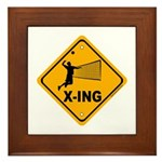 Volleyball X-ing Framed Tile