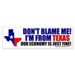 I'm From Texas Bumper Sticker