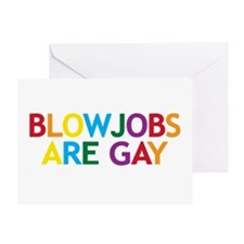 Blowjobs are Gay Greeting Card