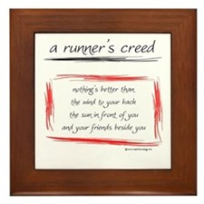 A Runner's Creed Framed Tile