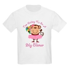 Monkey Future Big Sister T-Shirt