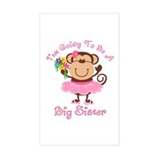 Monkey Future Big Sister Rectangle Decal