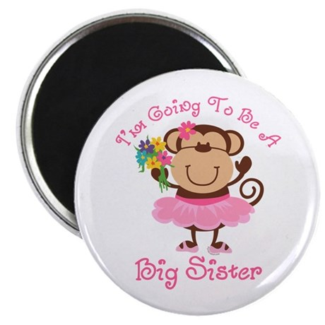 Monkey Future Big Sister Magnet