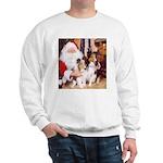 Sheltie Christmas with Santa Sweatshirt