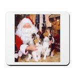 Sheltie Christmas with Santa Mousepad