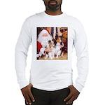 Sheltie Christmas with Santa Long Sleeve T-Shirt