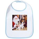 Sheltie Christmas with Santa Bib
