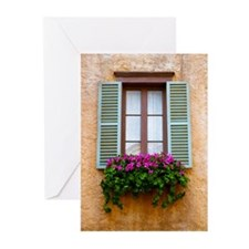Window Flowers Greeting Cards (Pk of 10)
