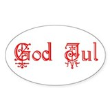 God Jul Swedish Christmas Decal