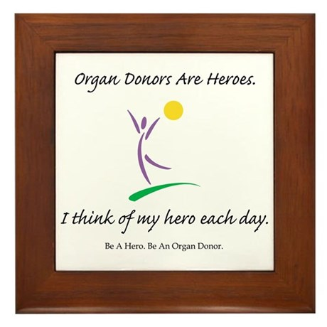 Inside-Out Donor Thanks Framed Tile