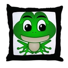 Frankie The Frog Throw Pillow