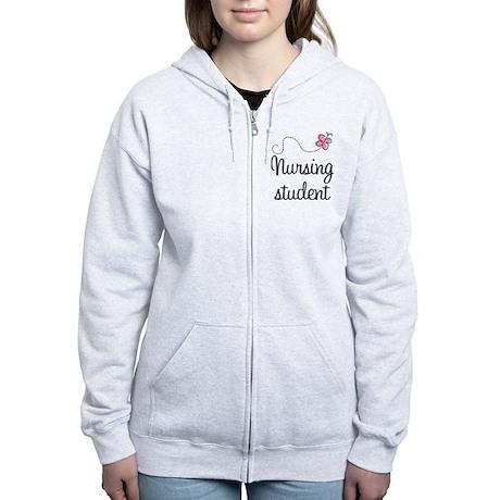 Nursing School Student Women's Zip Hoodie