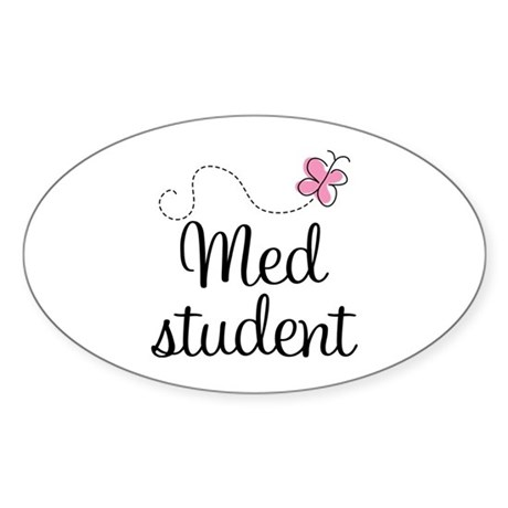 Med School Student Oval Sticker