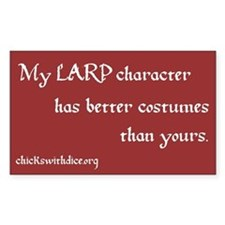 LARP character sticker