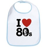I Love The 80s Reagan Bib