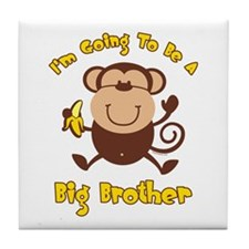 Monkey Future Big Brother Tile Coaster