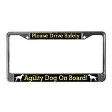Curly Coat Retrvr Agility Dog License Plate Frame