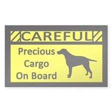 Precious Cargo Curly Coated Retriever Decal