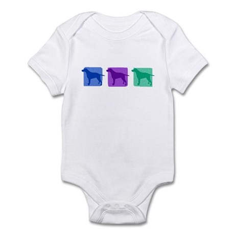 Color Row Curly Coated Infant Bodysuit