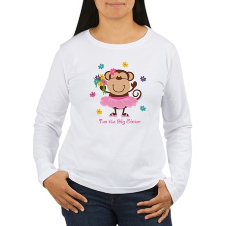 Monkey Big Sister Women's Long Sleeve T-Shirt