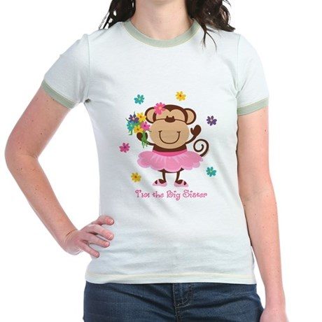Monkey Big Sister Jr. Ringer T-Shirt