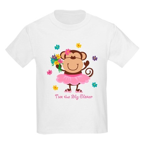 Monkey Big Sister Kids Light T-Shirt