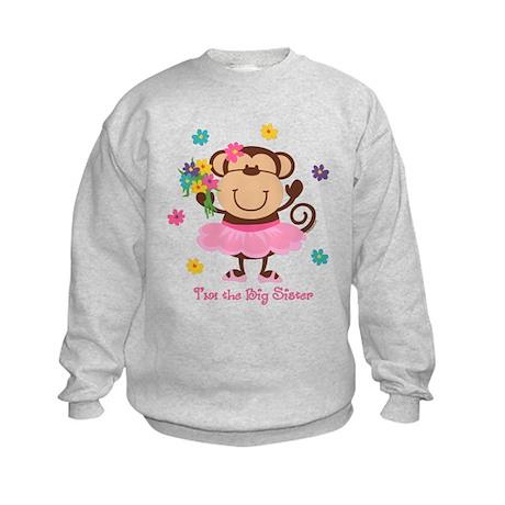 Monkey Big Sister Kids Sweatshirt