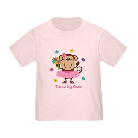 Monkey Big Sister Toddler T-Shirt