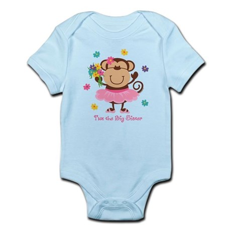 Monkey Big Sister Infant Bodysuit