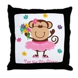 Monkey Big Sister Throw Pillow