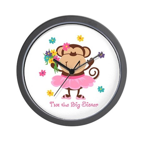 Monkey Big Sister Wall Clock