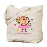 Monkey Big Sister Tote Bag
